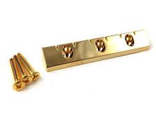 Gold Lap Steel Style Universal Flat Mount Guitar Bridge GB-LAP-G
