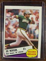 Joe Morgan Baseball Card #5 Topps Oakland Athletics Record Breaker MLB HOF NM-MT