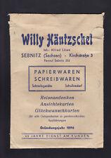 """Versandtasche, -umschlag SEBNITZ (Sachsen) """"Willy Häntzschel"""" Papierwaren..."""