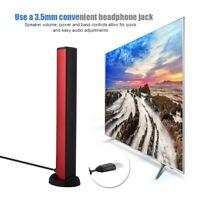 Desktop 1.5W USB TV Soundbar Music Speakers Built-in Subwoofer Stereo Speaker AP