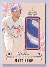 MATT KEMP 2014 TRIPLE THREADS 3 COLOR GAME USED PATCH 1/1 DODGERS