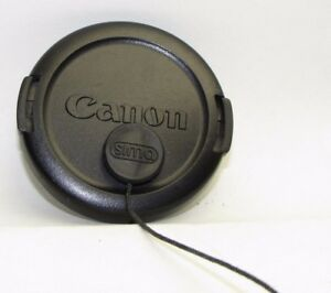 Used Canon E-52mm Lens front Cap Made in Japan with string  S940742