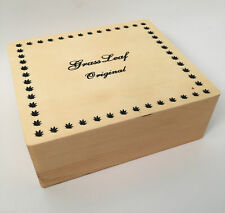 Große Holz Roll Verpackung Rasen Blatt Tabak Versteck Rizla Rauchen Lager Box