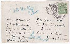 # 1911 SHEPHERDS BUSH CORONATION EXHIBITION 'NOT YORK' REDIRECTED TO BRIDLINGTON