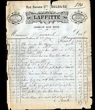 """TOULOUSE (31) DOREUR / DORURE sur BOIS """"LAFFITTE"""" en 1890"""
