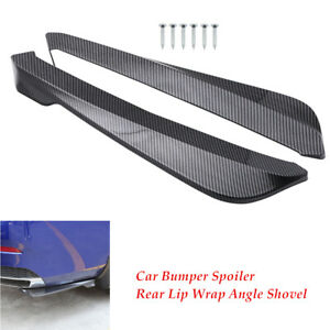 2Pcs Universal Car Bumper Spoiler Rear Lip  Canard Diffuser Wrap Angle Shovel