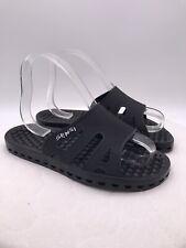 Sensi Regatta Ice Flip Flops Beach Sandals Black Shoes Swim Italy Size 9 (40-41)