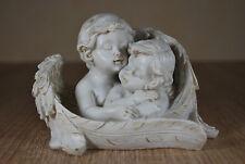 Engel Paar im Flügel Grab Schmuck Dekoration Garten Deko Skulptur Figur