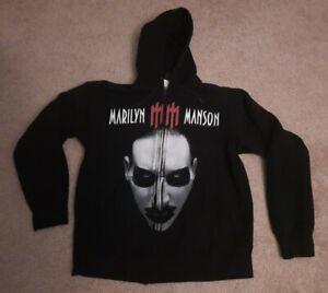 2003 Marilyn Manson Hoodie Sweatshirt Rabble Babble Bitch Rebel Giant Tag S/M