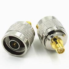 1stk. Neu RP SMA Female Jack auf N Type Male Plug RF Coaxial Adapter Connector