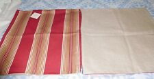 "NWT - 2 Pottery Barn ""Ombre Stripe""  Red  20"" Pillow Covers Cotton w/ Linen Back"