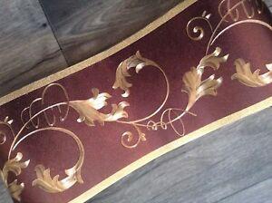 wunderschöne Barock Bordüre Dunkel Braun Gold .5m lang 15,cm breit...
