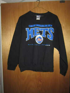 PRO PLAYER New York Mets Black Long Sleeve Sweatshirt Size Medium