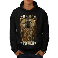Wellcoda Hippie Beast Bear Mens Hoodie, Nature Casual Hooded Sweatshirt