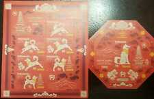 L) 2018 INDONESIA, YEAR OF THE DOG, SOUVENIR SHEET, MNH