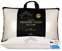2 X Visco Elastic Memory Foam Pillow, Premium Quality With Free Pillow Protector