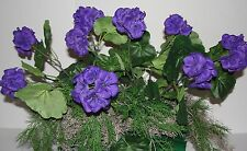 "Christmas Presents Purple Geranium Window Flowers for 24""L Box/ Cemetery Flowers"