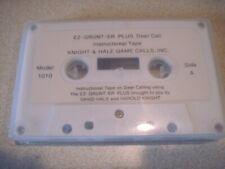 EZ-Grunter Plus Deer Call instructional cassette. Knight & Hale