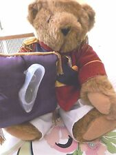 "Vermont 17"" Light Brown Teddy Bear Dressed as Prince Charming with Glass Slipper"