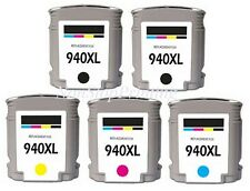 5PK New Hi-Yield 2 BK & 3 Color Ink For HP 940XL OfficeJet Pro 8000 8500 Series