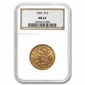 1894 $10 Liberty Gold Eagle MS-63 NGC - SKU#231103