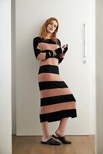 NWT $180 COUNTRY ROAD Block Stripe Midi Knit Dress in 100% Merino WOOL XS - L