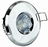 4 x Gu10 Bathroom Shower Downlights Spotlights IP65 Mains 240V GU10 Zone 1 2 3