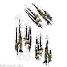 Mur Grabber Monster rayures Sticker décoration de Halloween horreur