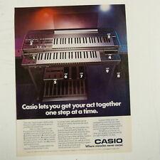 retro magazine advert 1984 CASIO SYSTEM 8000