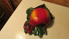 Antique Chalkware Apple String Holder  #3