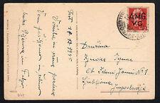 STORIA POSTALE AMG VG 1945 Cartolina da Trieste per Lubiana (FIL)