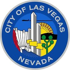 1x STICKER Las Vegas city seal Nevada bumper decal car