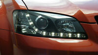 LED Black DRL LIKE Headlights to suit Holden VE Commodore SSV Lumina V