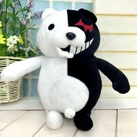 "25cm/9.8"" Soft Danganronpa Monokuma Black White Bear Dangan Ronpa Plush Toy Doll"