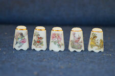 Reutter Porzellan Germany Frederick Warne Flower Fairies x5 Thimbles RD5201