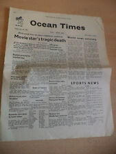OLD VINTAGE OCEAN TIMES NEWSPAPER MAGAZINE 1960S CUNARD HMS QUEEN MARY 30 JUNE