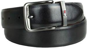 Tommy Hilfiger Men's 35MM Reversible Stretch Dress Belt Black Tan