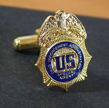 DEA mini Badge cufflinks and tie bar Set authentic