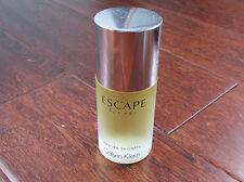 Calvin Klein Escape For Men Eau De Toilette 1.7oz Splash Bottle Full