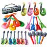 Inflatable Music Instruments Guitar Saxophone Microphone Blow Up Party Prop Witt