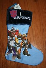 NWT Hasbro TRANSFORMERS Blue Christmas Stocking w/Key Chain