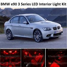 RED PREMIUM BMW E90 3 Series 04-11 FULL LED Light UPGRADE Interior KIT