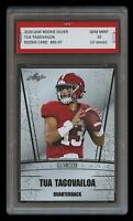TUA TAGOVAILOA 2020 / '20 LEAF SILVER 1ST GRADED 10 ROOKIE CARD DOLPHINS/ALABAMA