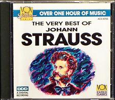 The Very Best of Johann Strauss (CD, Feb-1993, Vox)