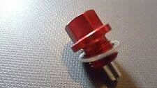 Magnetic Sump Drain plug . Red  .ford st150+180 . honda type r.st.mg zr. .m14.