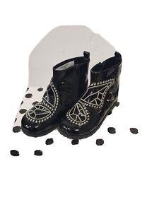 Fabulous Sophia Webster Karina black patent Junior size 10 Ankle Boot