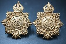 WW2 Canadian Postal Corps Collar Badges