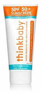 thinkbaby SPF 50 Sunscreen Baby Toddler Kid Safe Broad Spectrum UVA UVB 6 oz