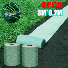 4 x Biodegradable Grass Seed Mat Fertilizer Promotes Growth Garden Picnic 3M*0.2