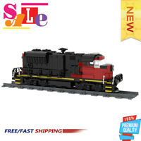MOC-47989 Cargo Train - EMD SD70M-2 CN Train Building Blocks Bricks Toys